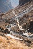 Beautiful way for trekking to Annapurna base camp Stock Photos
