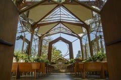 The beautiful Wayfarers Chapel. The beautiful Glass Church - Wayfarers Chapel at Rancho Palos Verdes, California royalty free stock photo