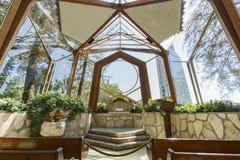 The beautiful Wayfarers Chapel. The beautiful Glass Church - Wayfarers Chapel at Rancho Palos Verdes, California Stock Image