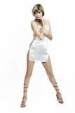 Beautiful wearing white dress Royalty Free Stock Photography