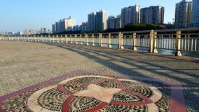 Sunny weather to see the scenery on both sides of Dongjiang River. Beautiful weather, charming scenery on both sides of the river royalty free stock photo