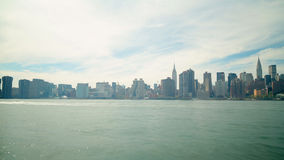 Beautiful weather day 4k time lapse of manhattan from new york stock video