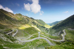 Beautiful weather over Transfagarasan, Romania Royalty Free Stock Photography