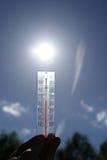 Beautiful weather. Temperature rising. Royalty Free Stock Image