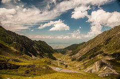 Beautiful weather and view over Transfagarasan Stock Image