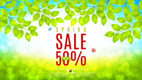 Beautiful web banner for spring sale Royalty Free Stock Images