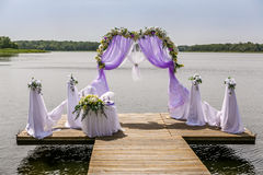 Beautiful wedding arch Stock Images