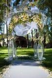 Beautiful wedding arch Stock Photo