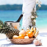 Beautiful wedding arch on tropical beach Royalty Free Stock Images