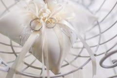 Beautiful wedding bands Stock Image