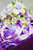 Beautiful wedding basket Stock Images