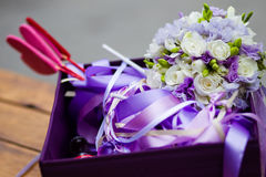 Beautiful wedding basket Stock Image