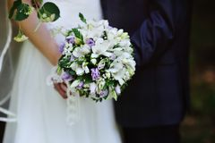 Beautiful wedding bouque Stock Images
