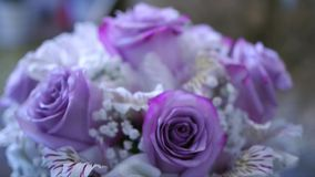Beautiful wedding bouquet stock video