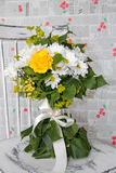 Beautiful wedding bouquet. The beautiful wedding bouquet for the bride Royalty Free Stock Images