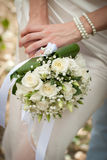 Beautiful wedding bouquet in bride's hand Stock Images