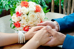 Beautiful wedding bouquet Stock Photos