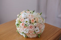 Beautiful wedding bouquet close-up. Wedding bouquet close-up. Whote rose Royalty Free Stock Image