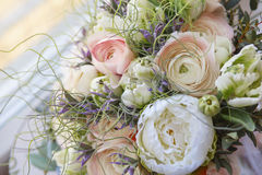 Beautiful wedding bouquet. Flowers bouquet arrange for decoration in home Stock Photo