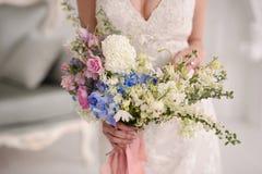Beautiful Wedding bouquet. Wedding bouquet of beautiful flowers. The bride's bouquet stock images
