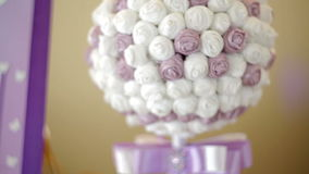 Beautiful wedding bouquet in form of a decorative ball Stock Photos