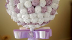 Beautiful wedding bouquet in form of a decorative ball Royalty Free Stock Photo