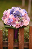 Beautiful wedding bouquet in the garden Royalty Free Stock Photo