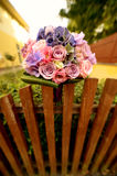 Beautiful wedding bouquet in the garden Stock Images