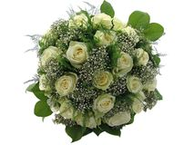 Beautiful wedding bouquet isolated on white Royalty Free Stock Images