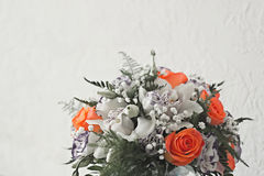 Beautiful wedding bouquet. On a light background Stock Images