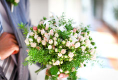 Beautiful wedding bouquet of roses Royalty Free Stock Image