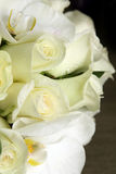 Beautiful wedding bouquet of roses and orchids Royalty Free Stock Photography