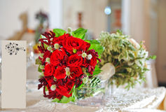 Beautiful wedding bouquet with roses Royalty Free Stock Photo