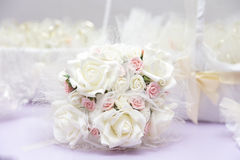 Beautiful wedding bouquet on table Royalty Free Stock Photo