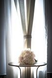 Beautiful wedding bouquet on a table Stock Image
