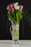 Beautiful wedding bouquet of tulips in a vase Royalty Free Stock Photos