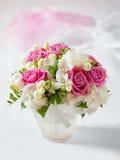Beautiful wedding bouquet in vase Stock Photo