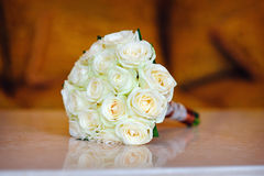 Beautiful wedding bouquet of white Stock Images