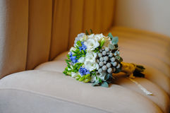 Beautiful wedding bouquet of white flowers.  Stock Photography