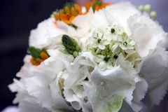 Beautiful wedding bouquet of white flowers Stock Image