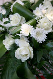 Beautiful wedding bouquet of white flowers close up Royalty Free Stock Photography