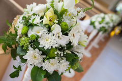 Beautiful wedding bouquet of white flowers. For decor Royalty Free Stock Photography