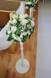 Beautiful wedding bouquet of white flowers. For decor Stock Image