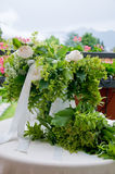 Beautiful wedding bouquet with white flowers and roses. Italy Royalty Free Stock Image