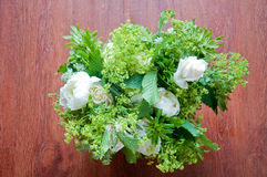 Beautiful wedding bouquet with white flowers and roses Stock Images