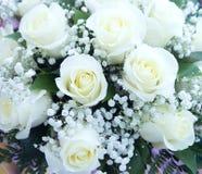 Beautiful wedding bouquet, white roses Royalty Free Stock Photo
