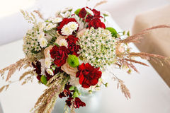 Beautiful wedding bouquet of wildflowers Stock Photos