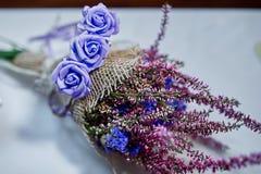Beautiful wedding bouquet of wildflowers Stock Image