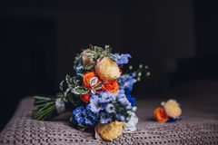 Beautiful wedding bridal bouquet. Royalty Free Stock Images