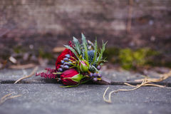 Beautiful wedding bridal bouquet. Stock Photos